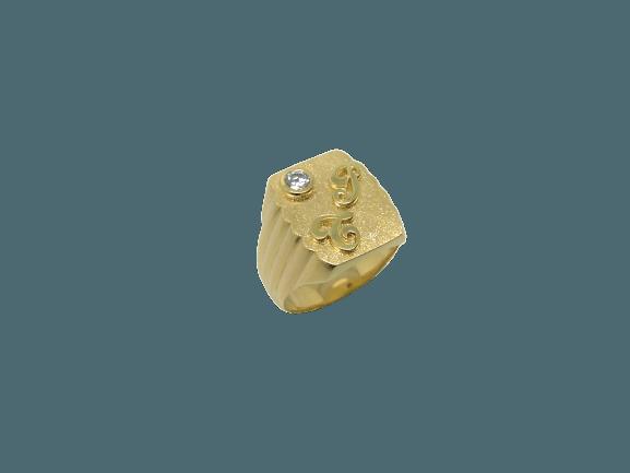 chevaliere-initiale-rapportees OR 750 milliemes - Bijouterie Ferre au Bouscat